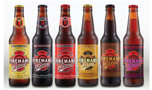 "Branding a Craft Beverage Company is a dream come true for this graphic designer. With 3 Beers and 3 Sodas, Fireman's Brew Beverages boasts ""America's Favorite Blonde, Brunette & Redhead "", with matching Cream, Root Beer, & Black Cherry Sodas, all micro-brewed to perfection!"