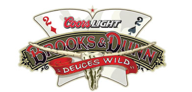 Tour Logo & Brand image for one of Country Rock's most popular bands sponsored by Coors Light and featuring Brooks & Dunn's iconic 'steer skull symbol'.