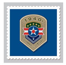 Design & Illustration for the USPS Celebrate The Century Stamp Book - 1940's. Representing the branches of the Armed Forces during WWII.