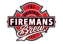 Custom Brand Logo Design for Fireman's Brew, Inc. a Craft Beverage Company created by firefighters who give back a portion of their profits to The National Fallen Firefighters Foundation.