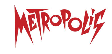 Lettering based on the 1927 Fritz Lang movie Metropolis. This version was used for Giorgio Moroder's 1984 adaptation and Soundtrack Album.
