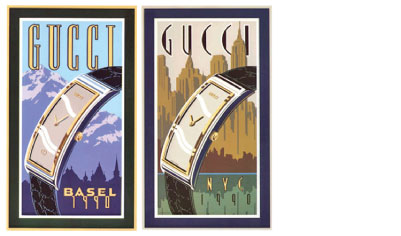 "Gucci Watch Company - Limited Edition Serigraph Posters - 23"" x 35"""