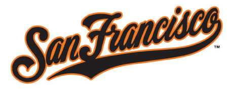 This handlettered team script logo was designed for The San Francisco Giants Baseball Organization. It has become somewhat of an icon and still used on batting jerseys and warm up jackets.