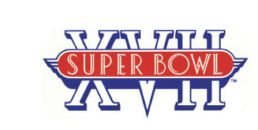 Super Bowl 17 was held at the Famous Rose Bowl Stadium in January 1983. Prior to theme oriented Super Bowl logos perhaps this started the trend by mirroring the classic art deco structure of the venue. This all-contained design was intentionally conceived in order to work well for the many merchandising items that supported this event.